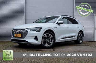 Witte Audi E-Tron 55 met 4% bijtelling tot 1 februari 2024